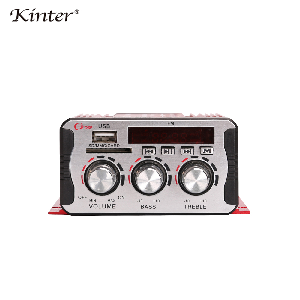 Image 2 - Kinter MA 600 Mini Amplifier Audio with FM Radio 2CH Bluetooth Amplifiers DC12V SD USB Input Play Stereo Sound Super Bass-in Amplifier from Consumer Electronics