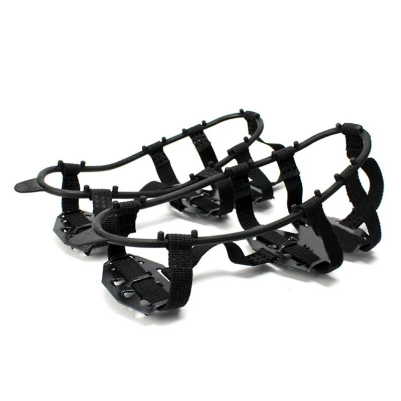 1 Pair 24 Teeth crampons Non-slip Ice Snow Climbing Anti-slip Shoe Covers Spike Cleats Crampons Anti-slip Overshoes