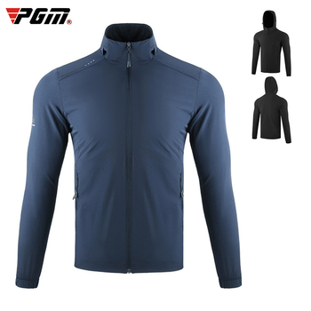 Golf outdoor jackets PGM golf Clothing Men's Jacket Autumn Winter Windbreaker Sports Clothes Hooded