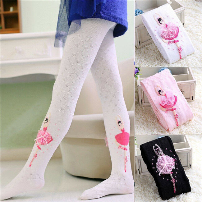 Lovely Infant Baby Kids Girl Flower Warm Knitted Pantyhose Slim Tights Stockings Pants Hosiery Pantyhose USA