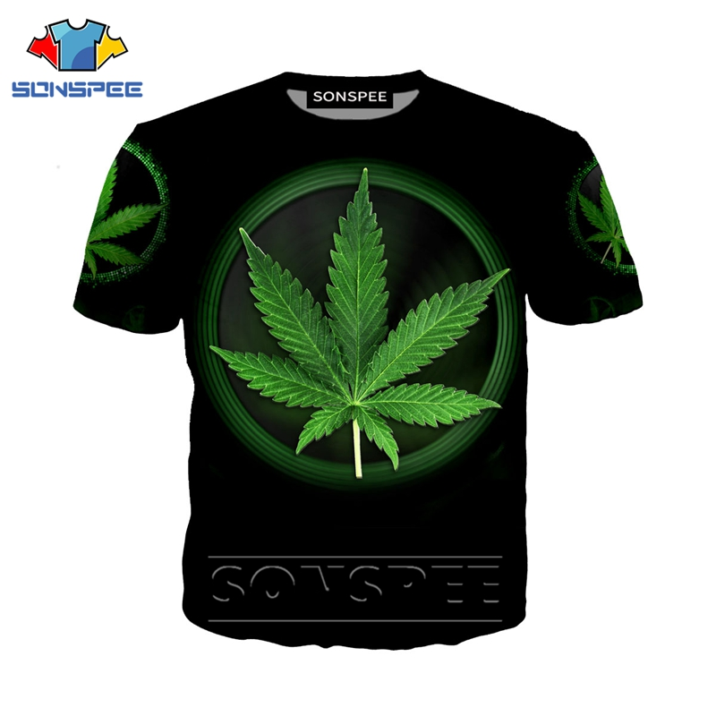 Anime 3d T Shirt Weed Plant