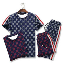 Conjunto de camiseta y pantalones cortos de manga corta para hombre, traje deportivo de secado rápido, para correr, verano, 2 piezas, 2020