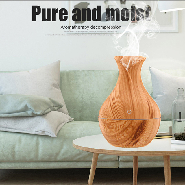 Natural Bamboo Products Wood Grain Household Essential Oil Diffuser Mini Air Purification Expansion Incense Smart Humidifier New 4