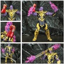 "ZD Toys Avenger 4 Endgame 8"" Thanos 2019 Movie 20cm Action Figure Infinity Gauntlet Legends Original Doll Collectable"