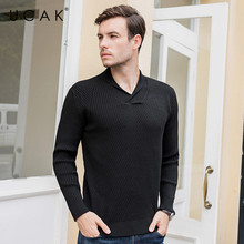 UCAK Brand Sweater Men 2019 Winter Autumn Fashion Trend V-Neck Pull Homme Casual Streetwear Striped Tops Pullovers Knit U1026