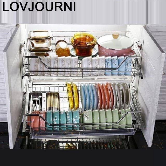 And Storage Organizador Armario Cocina Stainless Steel Cuisine Organizer Cozinha Kitchen Cabinet Cestas Para Organizar Basket