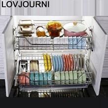 E organizador de armazenamento armario cocina cozinha de aço inoxidável organizador cozinha armário de cozinha cestas para organizar cesta