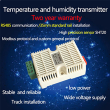 Temperature & Humidity Transmitter SHT20 Sensor Module High Precision Monitoring Modbus Rtu Protocol RS485 Output Signal digital data acquisition module input and output module digital to rs485 module communication modbus rtu