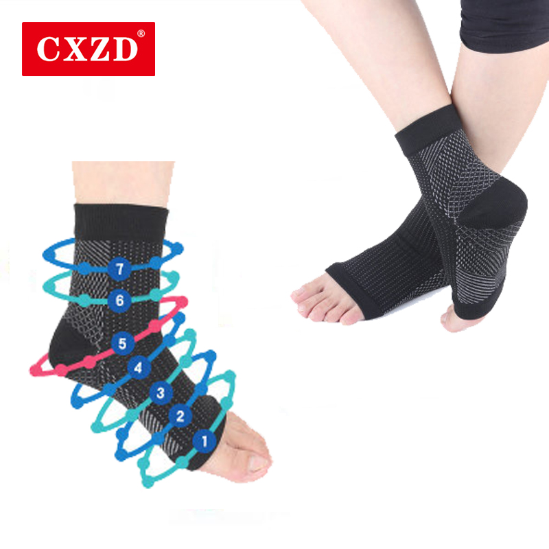 CXZD Foot Angel Anti Fatigue Compression Foot Sleeve Support Socks Men Brace Sock DropShip
