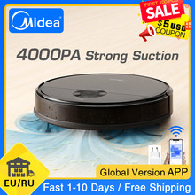 Midea I5C Robot Vacuum Cleaner for Home 4000Pa Suction Cleaning Automatically Charge Mop Dust Collector Smart Planned Aspirator