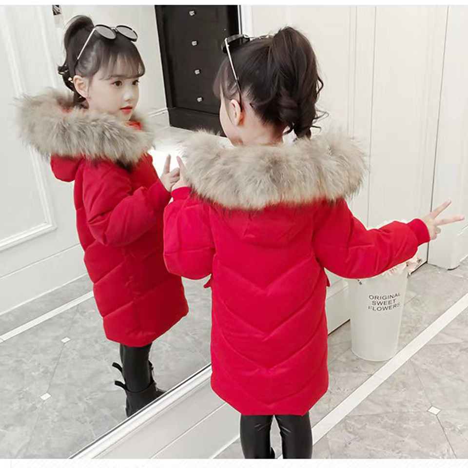 Fashion Girls Autumn Winter Thick Coats Baby Girl Solid Color Windbreaker Parkas Coat Children Clothing Kids Baby Girl Outwear