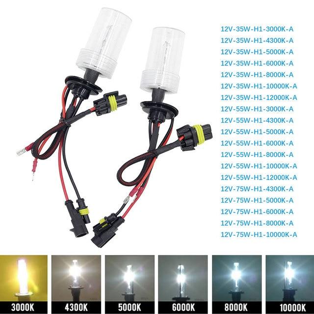 Tonewan ксеноновая лампа, 2 шт., 35 Вт, HID, головной светильник для автомобиля, лампа для авто, H1, H4, H11, 4300K, 5000K, 6000K, 8000K, автомобильная Замена