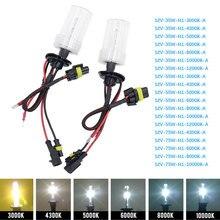 Tonewan 2 pièces 35W xénon HID ampoule phare lampe Auto voiture phare H1 H4 H11 4300K 5000K 6000K 8000K remplacement automatique de voiture
