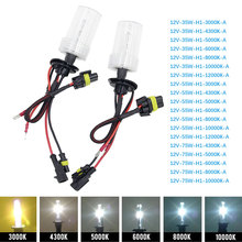 Tonewan 2pcs 35W Xenon HID Bulb Headlight Lamp Auto Car head light H1 H4 H11 4300K 5000K 6000K 8000K Car Auto Replacement