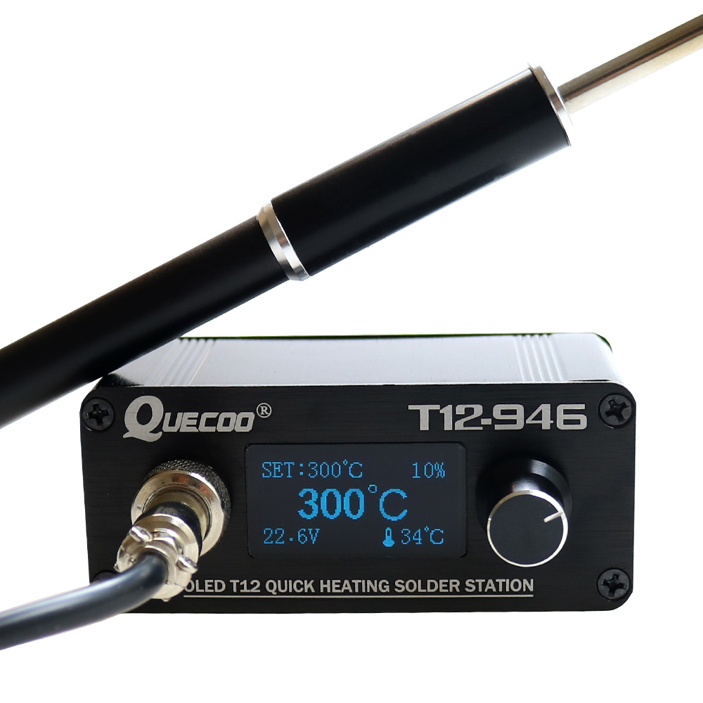 New STC T12-946 Mini Soldering Station 1.3inch Electronic Digital Controller With M8 Metal Handle And Iron Tips Welding Tools