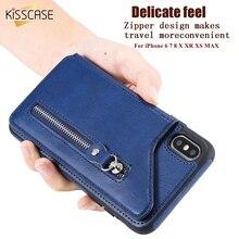 KISSCASE Flip Card Holder Leather Case For iPhone XS MAX X XR 6 7 8 6S Fundas 8Plus 7Plus 6Plus Wallet Pouch