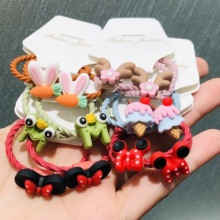 Headband-Decorations-Ties Hair-Accessories Frog Rubber-Bands Scrunchies Bow-Ears Animal