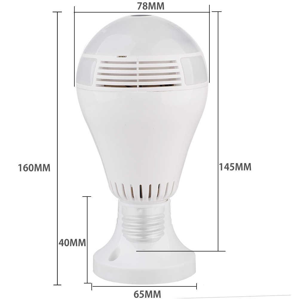 360 градусов Лампа камера безопасности Беспроводная лампа камера s рыбий глаз панорамная лампа HD Поддержка Wi-Fi Сеть удаленный монитор