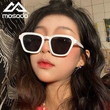 Новинка, модные солнцезащитные очки Mosodo, женские солнцезащитные очки в индивидуальной коробке, различные цвета, оправа из поликарбоната, тр...