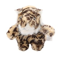 Doll For Chewing Training Puppy Interactive Squeaky Molar Toy Pet Plush Small Tiger Squirrel Dog Toys for Dog Cat