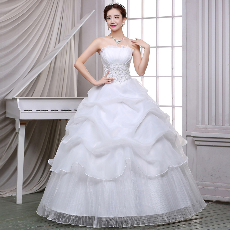 Wedding Dress 2020 Plus Size Wedding Gowns Strapless Bridal Gown Robe Mariage Africain Vestido De Noiva WED90567