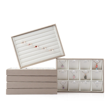 Leather Jewelry Display Organizer Tray Holder Storage Showcase Container Ring Jewelry Packaging