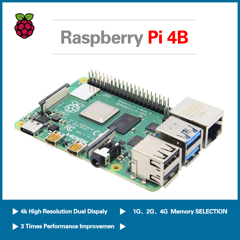S ROBOT 2019 New Original Raspberry Pi 4 Model B Development Board Kits Ram 1G 2G 4G + 64 32 GB SD Card RPI1