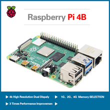 S ROBOT Raspberry Pi 4 Type B kit + 64 32 GB SD card acrylic box fan switching power supply HDMI cable RPI1