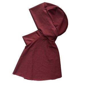 Image 3 - Haofan Muslimischen Schwimmen Hijab Hut Islamischen Kopf Tragen Hals Abdeckung Muslimischen One größe Schwarz Hut