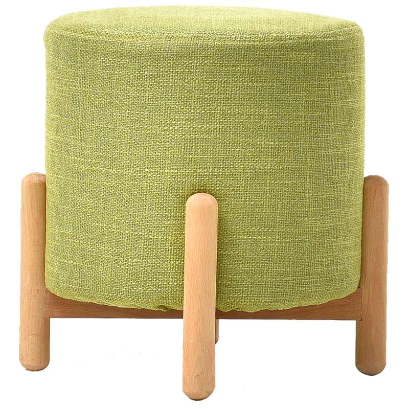 Living Room Home Small Stool Fabric Stool Children's Bench Solid Wood Sofa Stool Short Stool Fashion Creative Shoes Bench