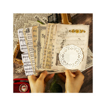 26 sheets/pack Retro Collection Lace Creative Scrapbook Nostalgic Handbook DIY Collection Diary and Paper Art Material Stickers