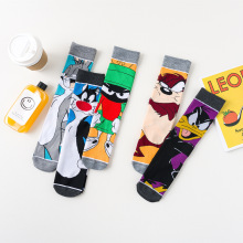 Fashion Men's sokc fun unisex cartoon character cotton socks funny rabbit cat du