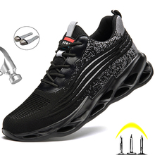 Work Boots Safety Steel Toe Shoes Men Safety Shoes Work Sneakers Indestructible Work Shoes For Men Steel Toe Cap Work Male Shoes