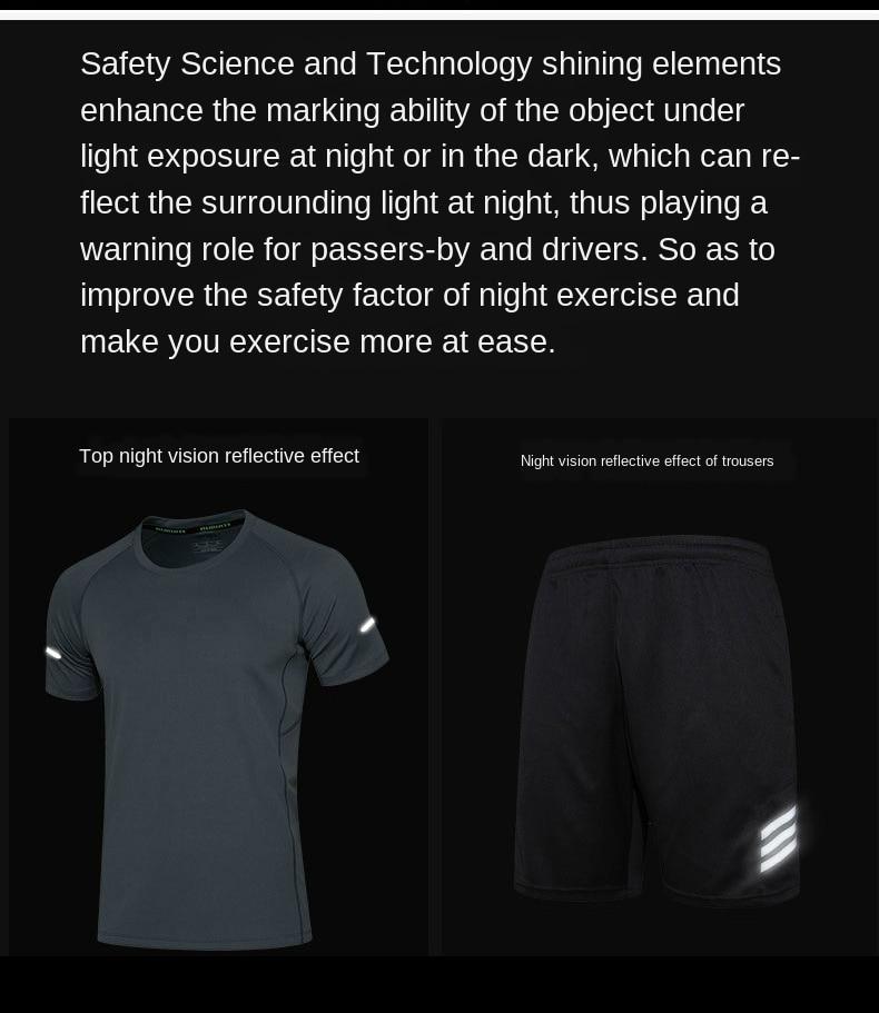 Terno dos esportes de corrida equipamentos-secagem rápida