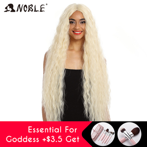 Image 4 - Noble Cosplay Synthetic Lace Front Wig Long Wig Cosplay Curly 42 Inch Ombre Blonde color Wig  Synthetic Lace Front Wig For Women
