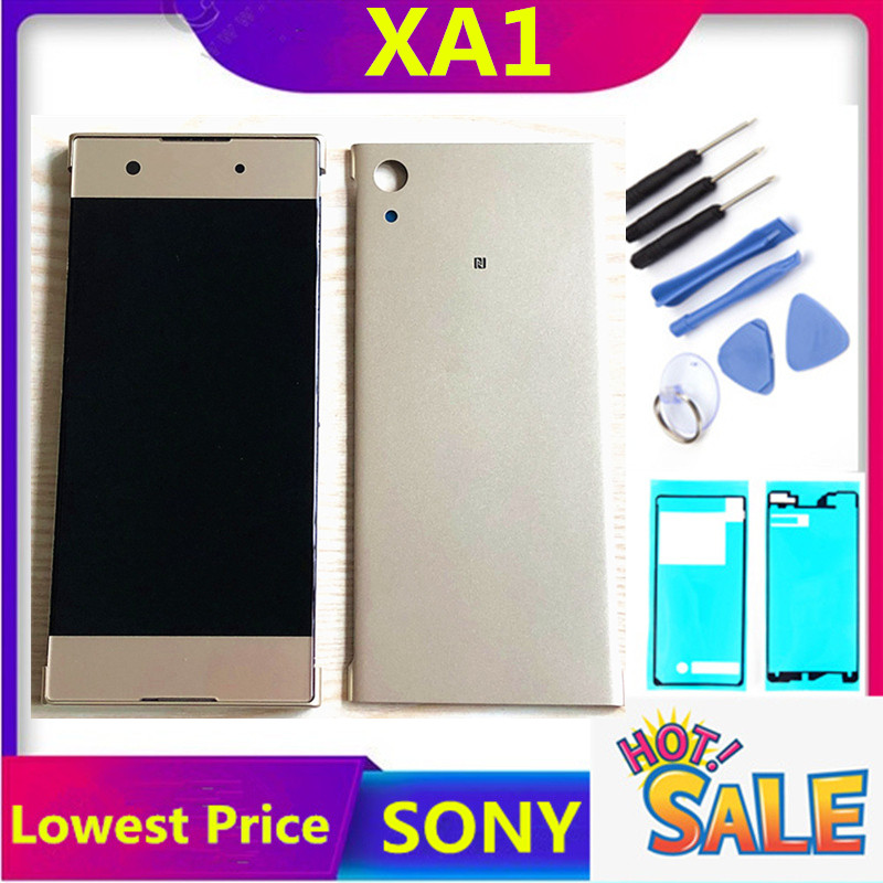 ERILLES LCD For SONY Xperia XA1 Display Touch Screen With Frame For SONY XA1 LCD Display Back Cover G3116 G3121 G3125 G3112