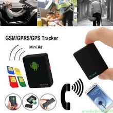 цена на Mini GPS Tracker Waterproof Global Car A8 GSM/GPRS Tracking Tool for Cars Kids Elder Pets