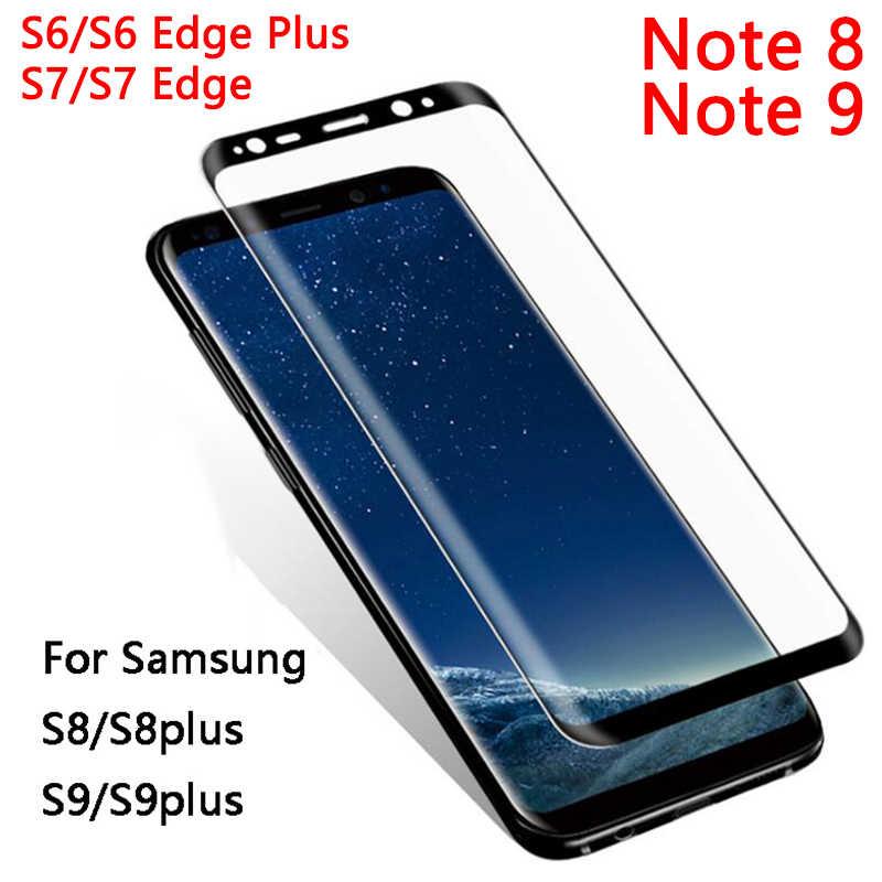 زجاج واقي حقيبة لهاتف سامسونج ملاحظة 8 9 S9 S8 زائد S7 S6 حافة Glas المقسى واقي للشاشة غالاكسي لا S 9 8 7 6 note9 note8