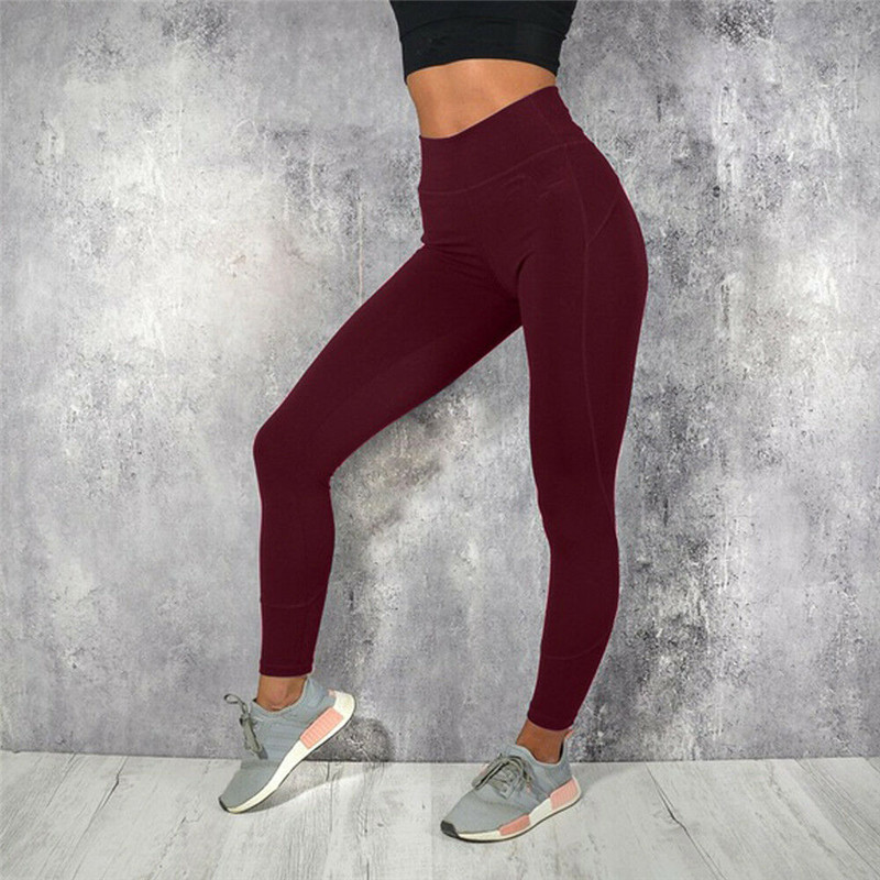 New High Waist Polyester Leggings Women Fitness Clothes Slim Ruched Women's Spring Skinny Pencil Pants Female Sexy Leggings