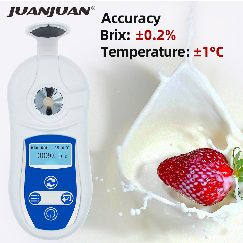 Digital Handheld Brix Meter Digital Brix Refractive Index Refractometer Brix Sugar In Wine Concentration 40%off
