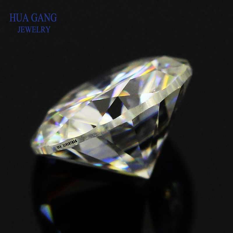 Größe 0.3 ~ 10mm IJ Farbe Moissanite Stein Runde Brilliant Cut Lose Moissanite VVS1 Ring Armband Schmuck DIY Freies verschiffen