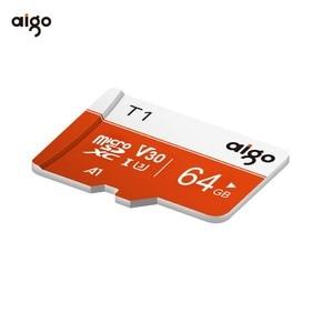 Карта памяти Aigo micro sd 64G, высокоскоростная водонепроницаемая карта памяти A1 97 МБ/с./с, карта micro sd, термостойкая карта sd