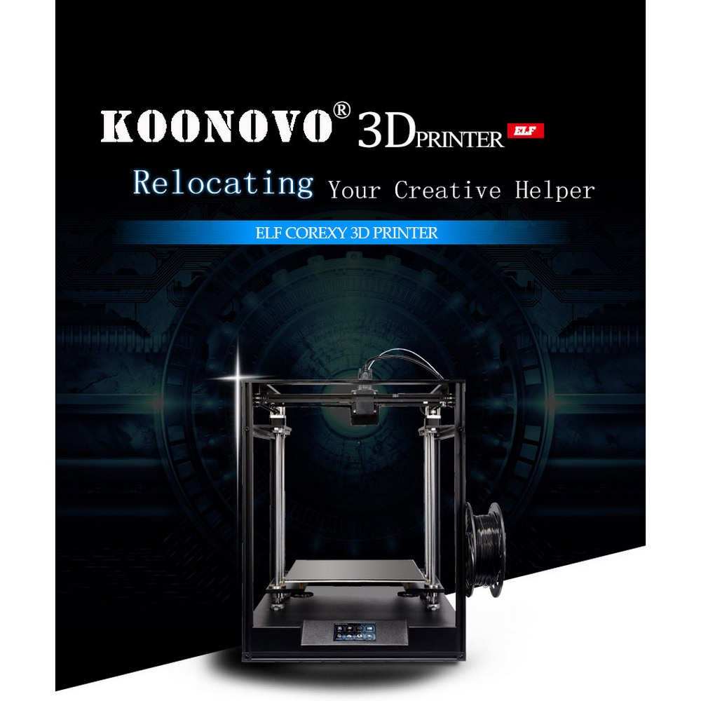 Creative3D Elf 3D Printer Large Size 300*300*330mm CoreXY High Precision DIY 3D Printer Kit Core XY With Double Z Axis DIY