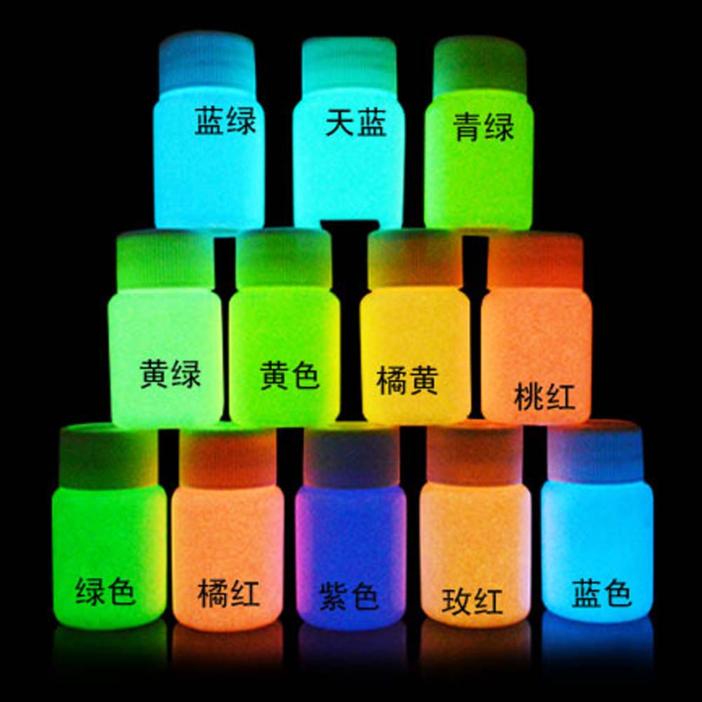 No Radiation Luminous 2425 Fluorescent Super Bright Glow In The Dark Powder Noctilucent Pigment  DIY Art Paint 10g
