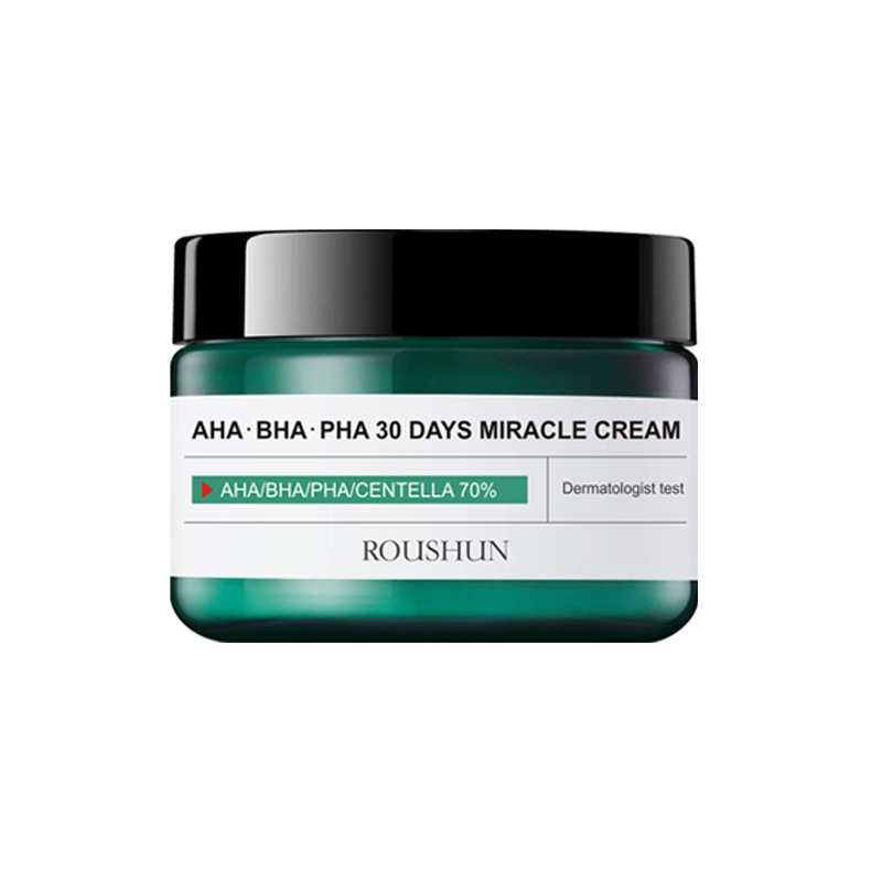 AHA BHA PHA 30 Days Miracle Cream 60ml Teatree Oil Control Moisturizer Face Cream Acne Treatment Whitening Cream