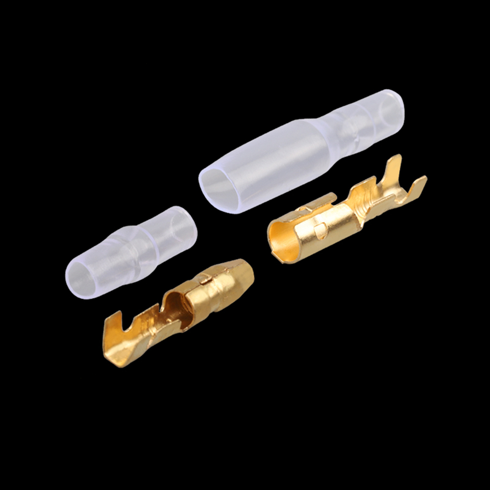 4.0 bullet terminal car electrical wire connector diameter 4mm pin set 50sets=200pcs Female + Male + Case Cold press terminal