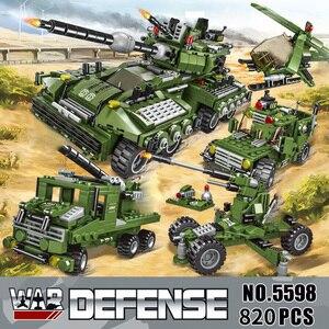 Image 3 - 2020 710PCS Tank Building Blocks Vehicle Aircraft Boy Toys Figures Educational Blocks Military Compatible LegoINGlys Bricks