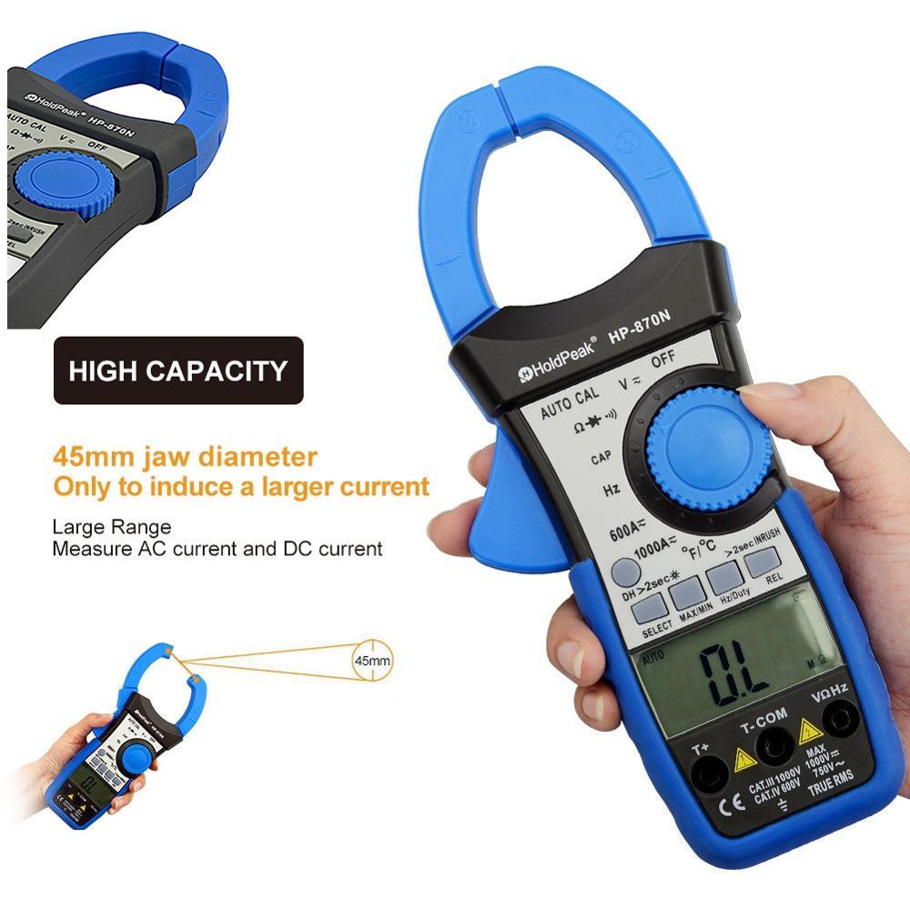 HoldPeak HP-870N Auto Range DC AC Pinza digital multímetro Pinza - Instrumentos de medición - foto 5