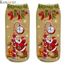 KANCOOLD, 10 шт., рождественские женские носки милые зимние шерстяные женские теплые носки с объемным рисунком Санта-Клауса Рождественский подарок на год