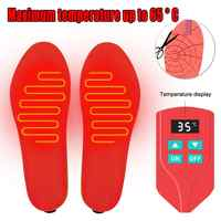 Battery-powered rechargeable heating insole for men and women's foot warmers - temperature control
